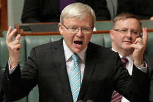 Kevin Rudd. Photo / AP