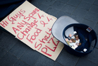 The Auckland Council says it averages five complaints a month about begging. Photo / Richard Robinson