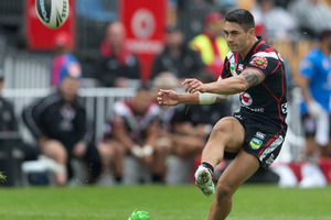 Shaun Johnson's kicking seems to have come right lately. Photo / Brett Phibbs