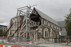 The earthquake damaged Christchurch Cathedral in March 2012.  File photo / Geoff Sloan