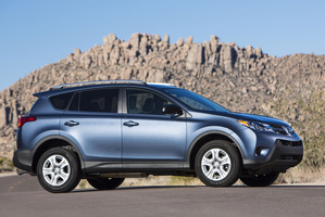 Toyota's recently launched RAV4 was the second-biggest seller in New Zealand last month.