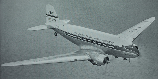 The New Zealand National Airways Corporation DC-3 Skyliner that crashed into the Kaimai Rangers 1963.