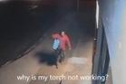 The hapless Kaitaia burglar in action