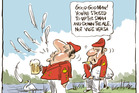 The gentle art of Swan Upping. Cartoon / Rod Emmerson