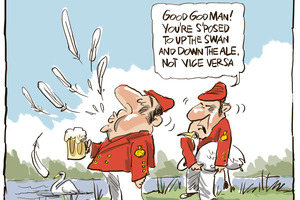 The gentle art of Swan Upping. Cartoon / Rod Emmerson