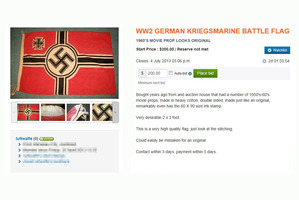 Items bearing Nazi insignia were on sale on Wheedle.