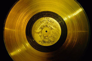 The solid gold 'The Sounds of Earth' record aboard Voyager 1.