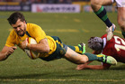Adam Ashley-Cooper of the Wallabies scores a try during game two of the International Test Series between the Australian Wallabies and the British & Irish Lions. Photo / Getty Images.