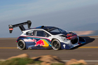 Sebastien Loeb in his seemingly unbeatable Peugeot 208 T16 Pikes Peak. Photo / Alastair Ritchie