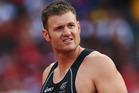 New Zealand's Stuart Farquhar (pictured) and Tom Walsh both failed to meet the qualifying standards for next month's Athletics world championships in Moscow. Photo / Getty Images.