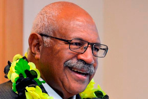 Former Fiji coup leader Sitiveni Rabuka during a talk to participants at the University of Otago's 48th Foreign Policy School. Photos / Gerard O'Brien
