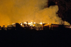 House fire in Albany. Photo / Kellie Blizard
