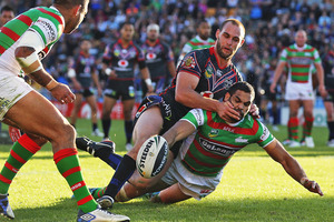 The Rabbitohs pipped the Warriors by two points in their last encounter. Photo / Getty Images