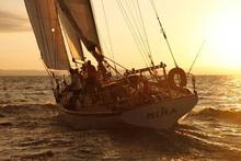 Nina under sail.