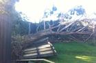 Storm damage on Geraldine Street, Christchurch. Photo / Andy Florkowski