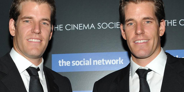 The Winklevoss twins hope that bringing Bitcoins on to a traditional stock exchange will help to clean up their image further. Photo / AP