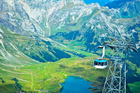 The Mount Titlis Revolving Rotair cable car near Engelberg, Switzerland. Photo / Thinkstock