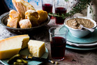 Chicken Liver Pate with bread and parmesan cheese. Photo / Babiche Martens