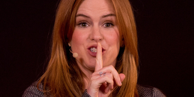 Isla Fisher says her time on Home and Away taught her how to deliver bad dialogue convincingly. Photo / AP