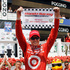 Scott Dixon, of New Zealand, celebrates in Victory Lane after winning the Pocono IndyCar 400 auto race. Photo / AP