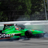 James Hinchcliffe, of Canada, crashes in Turn 1 on the first lap of the Pocono IndyCar 400 auto race. Photo / AP