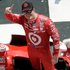 Scott Dixon, poses in Victory Lane after winning the Pocono IndyCar 400 auto race. Photo / AP