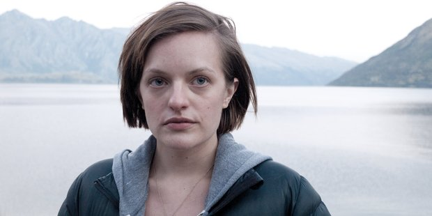 Actor Elisabeth Moss in the Jane Campion series Top of the Lake, shown on Sky's UKTV channel.