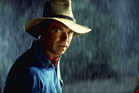 Sam Neill in a scene from the film Jurassic Park.