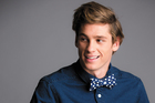 Model, Cooper Rand, wears Worldman polka dot bow tie ($99). WESC chambray shirt ($219).  Photo / Greg Bowker