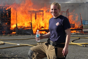 Marja Shaw was inspired to become a firefighter by the 9/11 terrorist attacks in the United States in 2001.