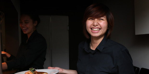Waitress at Coco in Mt Roskill, Auckland.Photo /  Sandra Mu