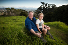 Waitakere Ranges Protection Society president John Edgar regularly takes his grandson Myer Cuthbert to visit the ranges. Photo / Greg Bowker