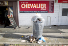 A bin at Pt Chevalier Mall was left overflowing. Photo / Richard Robinson