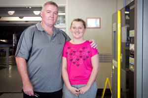 Scott McGill has been visiting his daughter Caitlyn, who is in Starship hospital for a heart operation. Photo / Natalie Slade