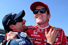 Alex Tagliani (left) and Scott Dixon have a bit of a thing going on.
