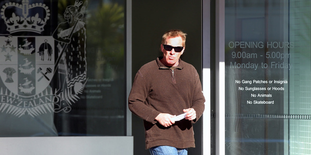 Richard Snook leaves the Napier District Court after being sentenced to four months' home detention for making intimate visual recordings. Photo / APN