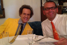 Paul Henry, right, dined with Hollywood star Richard Simmons in Beverly Hills after they filmed their <i>The Desk</i> scenes.