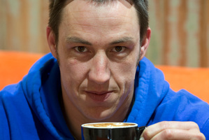 "John Corfield finds it hard ""to beat a real coffee"". Photo / Brett Phibbs"