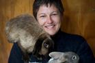 Christine Kalin says rabbits make great companions. Photo / Sarah Ivey