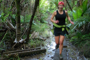 Tess Birkbeck loves sharing bush running with her partner.