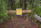 Signs in the Waitakere Ranges announcing certain walking tracks are closed are being ignored.