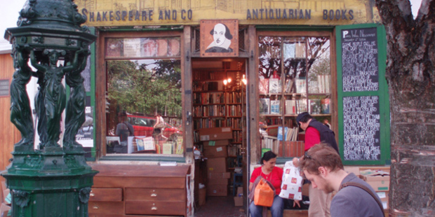 Shakespeare and Co book shop, Paris.