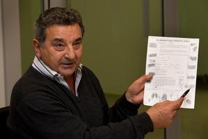 Joe Karam during the press conference. Photo / Brett Phibbs