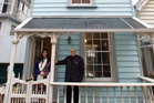 Real estate agents Roshni Sami and Peter Thomas are marketing 7 Nicholas St, which is thought to date from the 1870s or 1880s. Photo / Richard Robinson