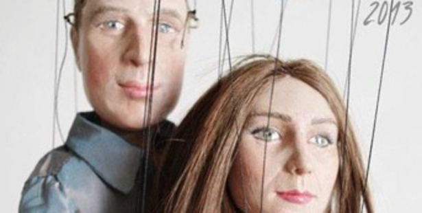 Hoping on the royal baby gravy train, Polish artist Bea Ihnatowicz has made these creepy marionettes of pregnant Kate Middleton and Prince William.