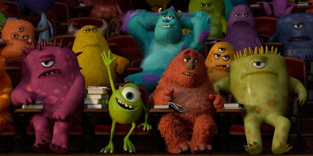 Pixar's new movie 'Monsters University'.