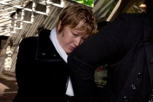 Alexandra Holland leaving the Auckland District Court yesterday. She will now be sentenced in September. Photo / NZ Herald