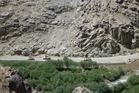 NZ Army patrol through Afghanistan's Baghak Valley.