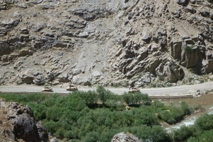 NZ Army patrol through Afghanistan's Baghak Valley.