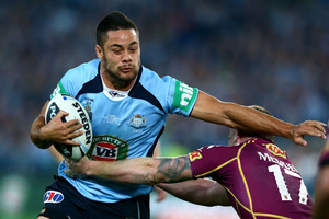 Jarryd Hayne has been ruled out of the Origin decider after tearing a hamstring. Photo / Getty Images